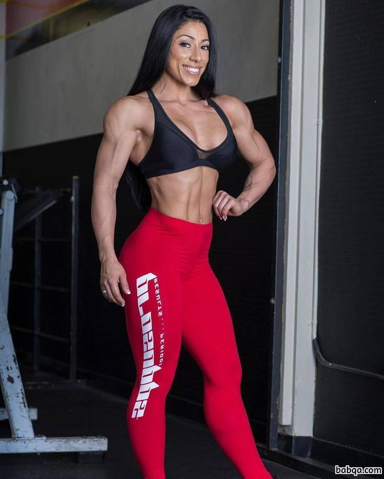 perfect girl with muscular body and muscle booty image from instagram