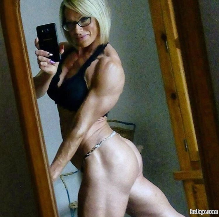 cute chick with muscular body and toned legs image from flickr