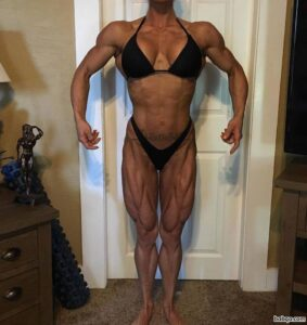 hot female bodybuilder with muscular body and muscle arms repost from flickr