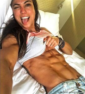 beautiful girl with muscle body and toned bottom image from reddit