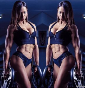 hot woman with strong body and toned biceps image from linkedin