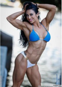 awesome lady with fitness body and toned arms pic from tumblr