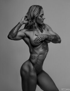 awesome female bodybuilder with fitness body and toned legs photo from tumblr