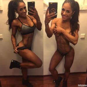 cute girl with strong body and toned arms image from facebook