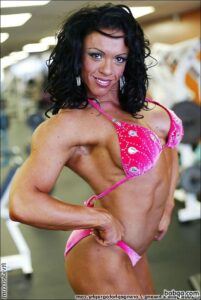 spicy female bodybuilder with muscular body and toned biceps pic from flickr