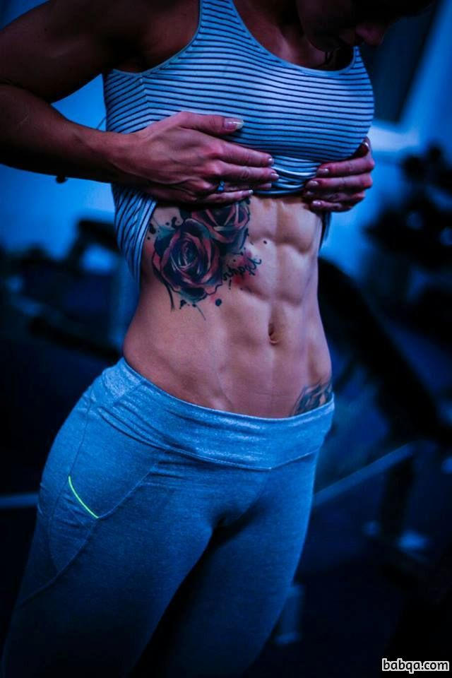 cute female with fitness body and toned arms image from facebook