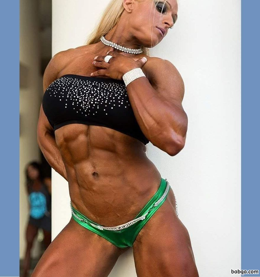 awesome lady with muscle body and muscle biceps photo from flickr