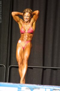 perfect chick with muscular body and toned biceps pic from g+