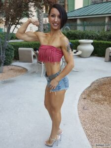 beautiful lady with muscle body and toned bottom photo from tumblr