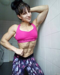 perfect lady with muscular body and muscle arms photo from facebook