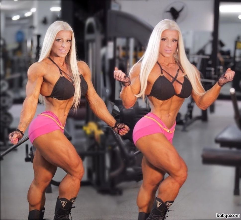 beautiful woman with muscle body and muscle legs image from linkedin