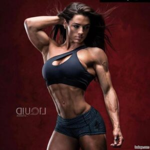 hottest female bodybuilder with strong body and toned bottom image from tumblr