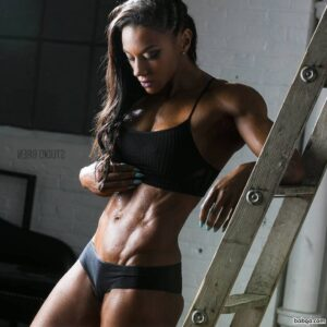 awesome woman with fitness body and muscle booty picture from g+