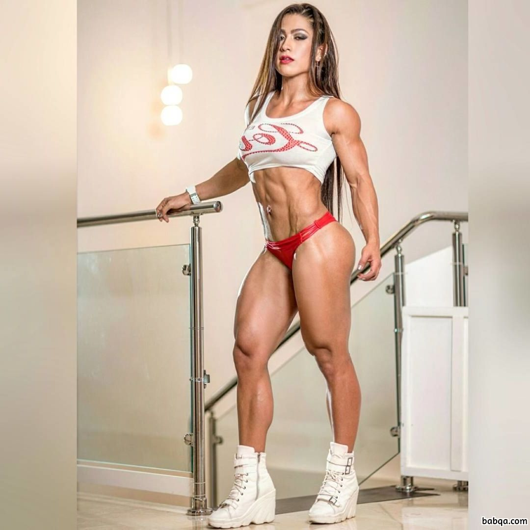 awesome female bodybuilder with muscular body and muscle biceps photo from flickr