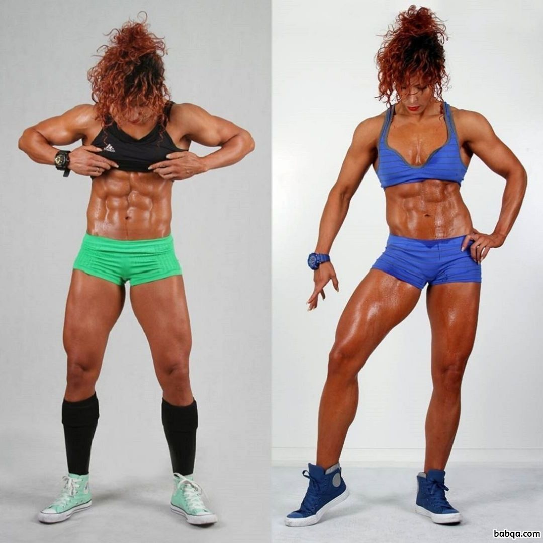 cute female with fitness body and muscle ass repost from flickr