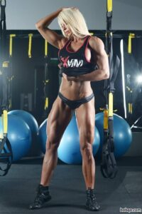 awesome female bodybuilder with fitness body and toned biceps photo from linkedin