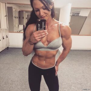 awesome female with muscular body and toned biceps pic from facebook