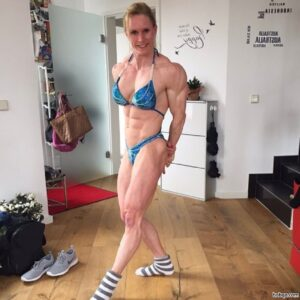 perfect female bodybuilder with muscular body and toned legs photo from reddit