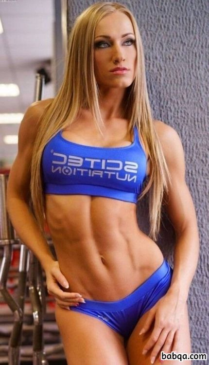 beautiful chick with muscular body and toned booty image from linkedin