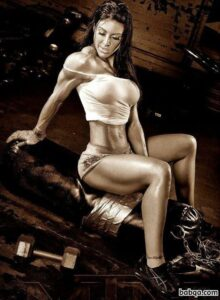 hottest girl with strong body and muscle legs photo from reddit