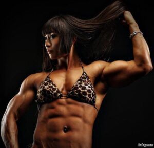 hot female bodybuilder with muscle body and muscle bottom post from linkedin