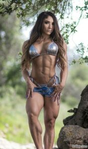 hottest female bodybuilder with strong body and toned legs repost from instagram