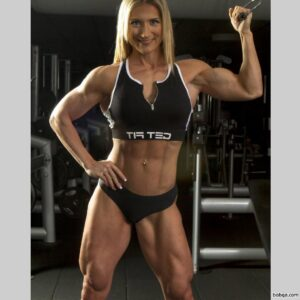 beautiful female bodybuilder with muscle body and muscle biceps picture from tumblr