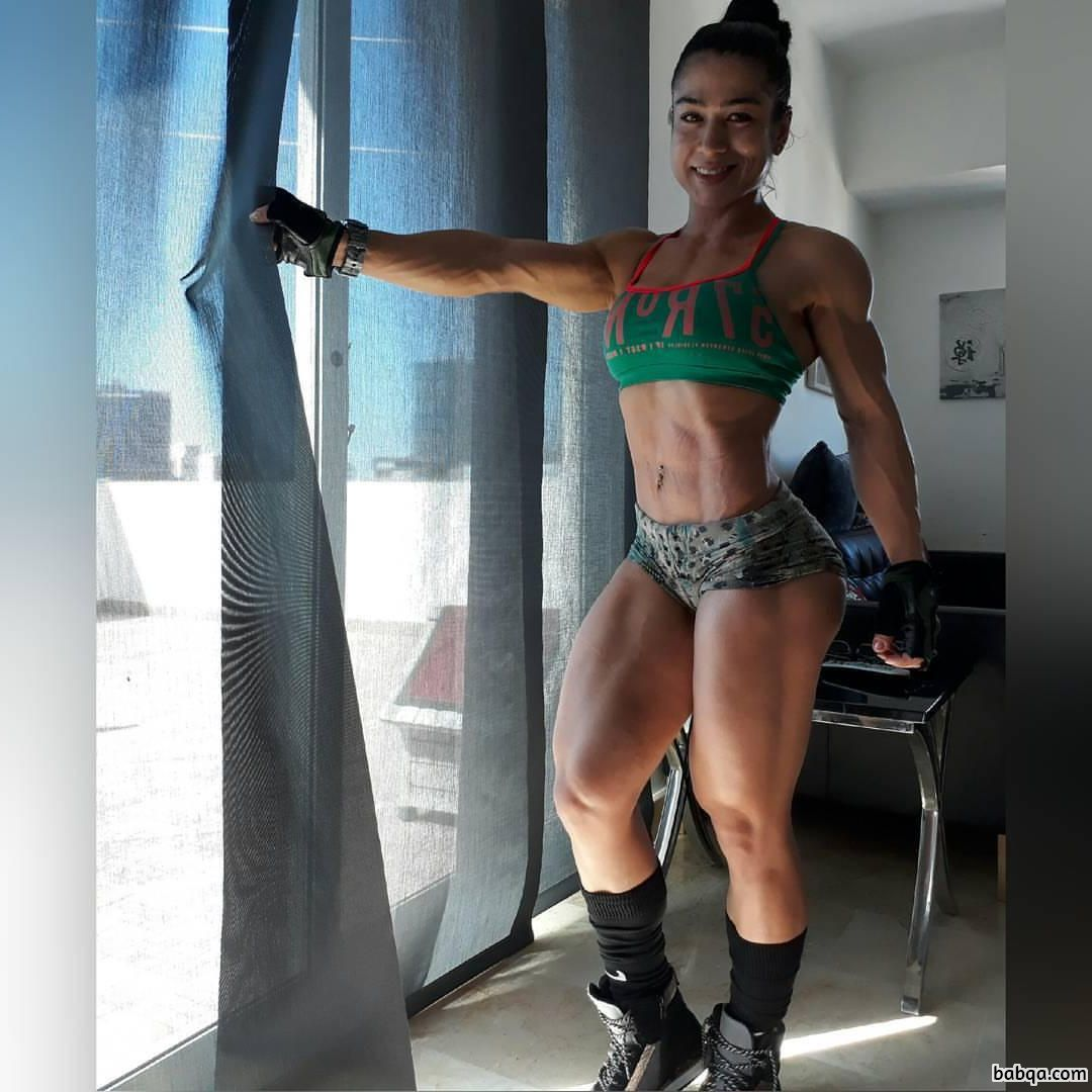 sexy girl with muscle body and muscle bottom photo from g+