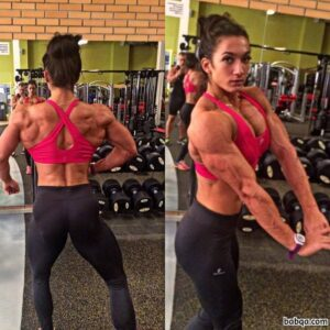 perfect lady with muscle body and toned biceps picture from reddit