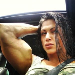 hottest woman with fitness body and muscle biceps pic from tumblr