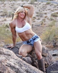 sexy lady with fitness body and muscle arms image from tumblr