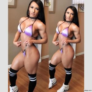 perfect female with muscle body and muscle biceps repost from tumblr
