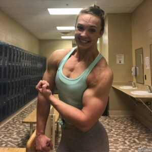 awesome female with strong body and muscle legs repost from facebook