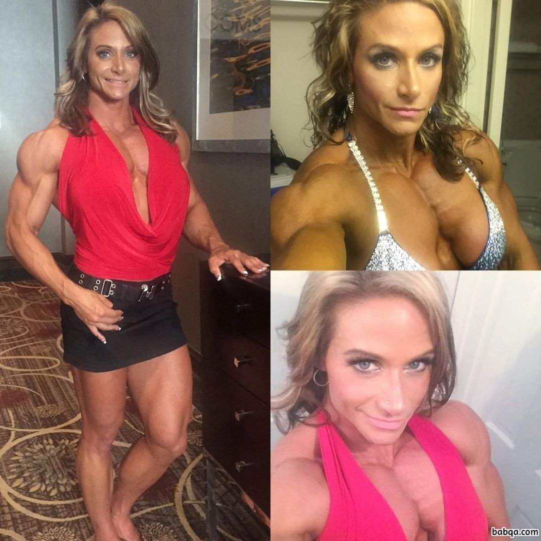 hottest girl with fitness body and muscle bottom image from reddit