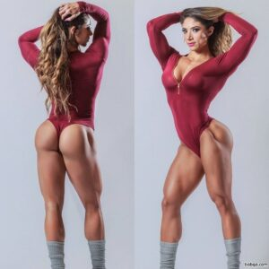 cute female bodybuilder with strong body and toned legs pic from facebook