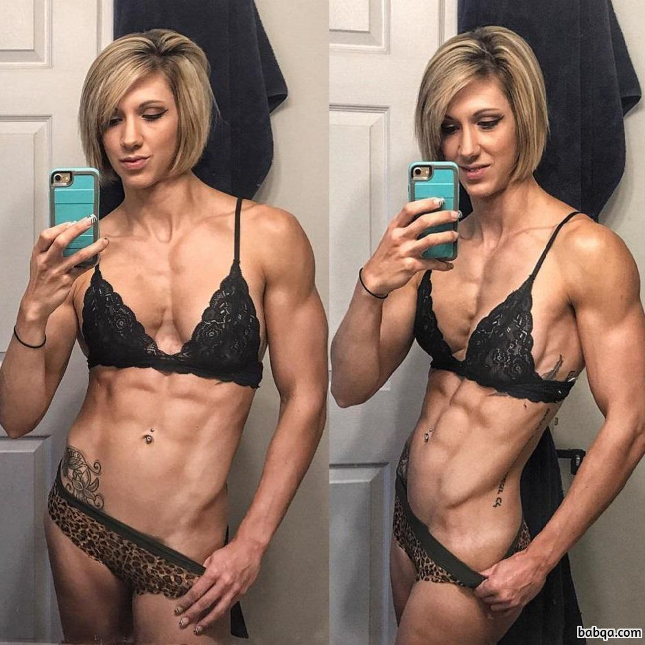 beautiful lady with strong body and muscle booty picture from linkedin