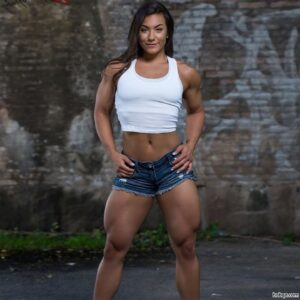 spicy female with muscular body and muscle arms picture from insta
