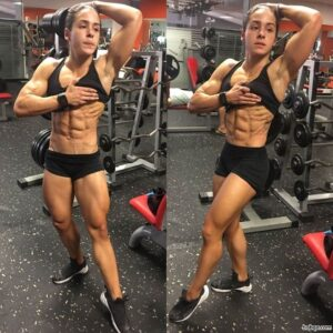 cute female with fitness body and muscle arms picture from flickr