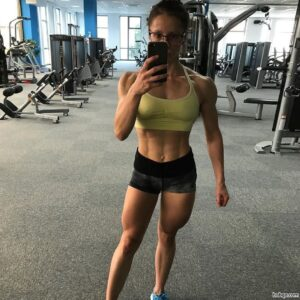 perfect lady with muscular body and toned arms post from g+