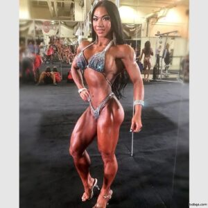 beautiful female bodybuilder with fitness body and toned arms picture from instagram
