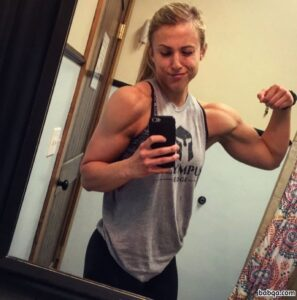 hottest chick with fitness body and toned biceps pic from instagram