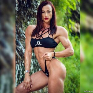 perfect lady with muscular body and muscle legs repost from g+