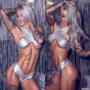 spicy babe with fitness body and muscle bottom photo from instagram