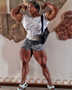 hottest girl with muscle body and toned legs image from reddit