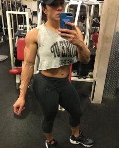 hottest female bodybuilder with strong body and muscle ass pic from instagram