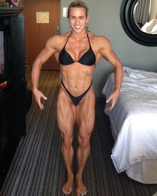 hottest female bodybuilder with muscular body and toned legs picture from linkedin