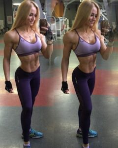 hot babe with muscle body and toned bottom repost from flickr