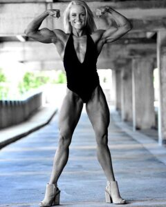 hottest female bodybuilder with strong body and toned arms photo from tumblr