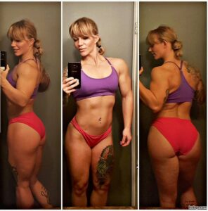 perfect female with muscle body and muscle legs post from reddit
