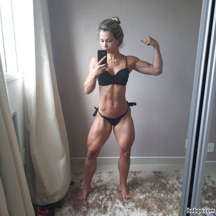 sexy female bodybuilder with muscular body and muscle arms picture from g+